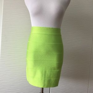 Bebe Neon Green Bodycon Skirt
